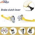 latest style foldable dirt bike brake clutch levers golden motorbike cnc clutch brake lever FOR KTM 105XC 2008 2009