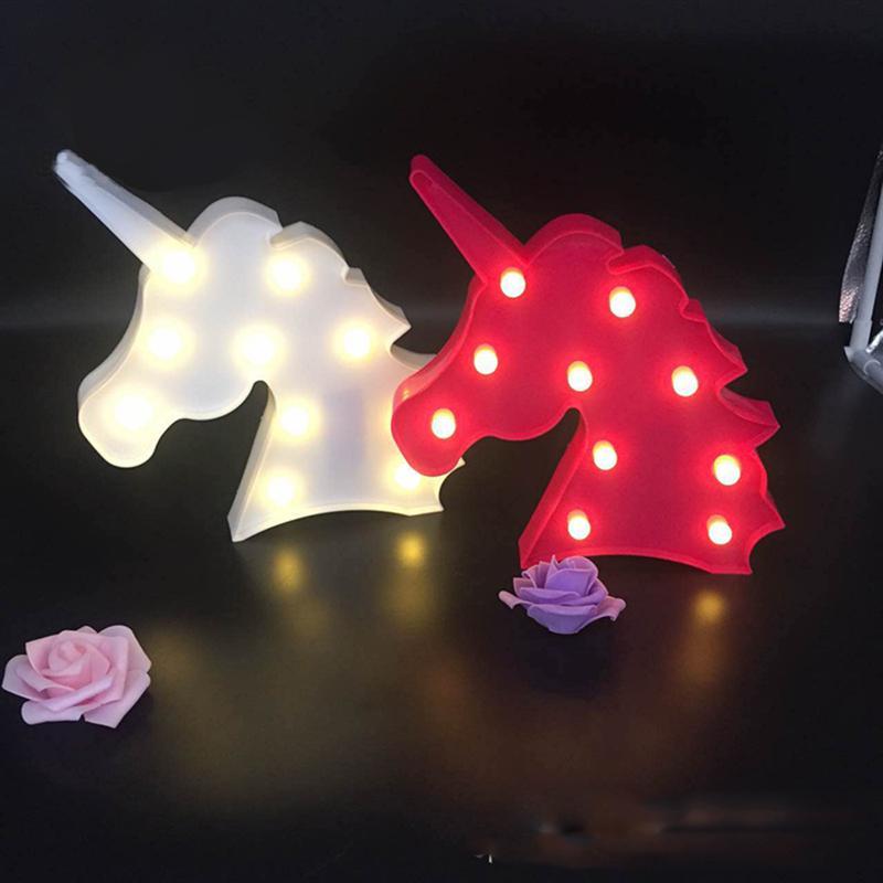 10 светодиодный Романтический единорог глава свет светодиодный светильник Батарея работать на Рождество домашняя одежда для свадьбы, дня р...