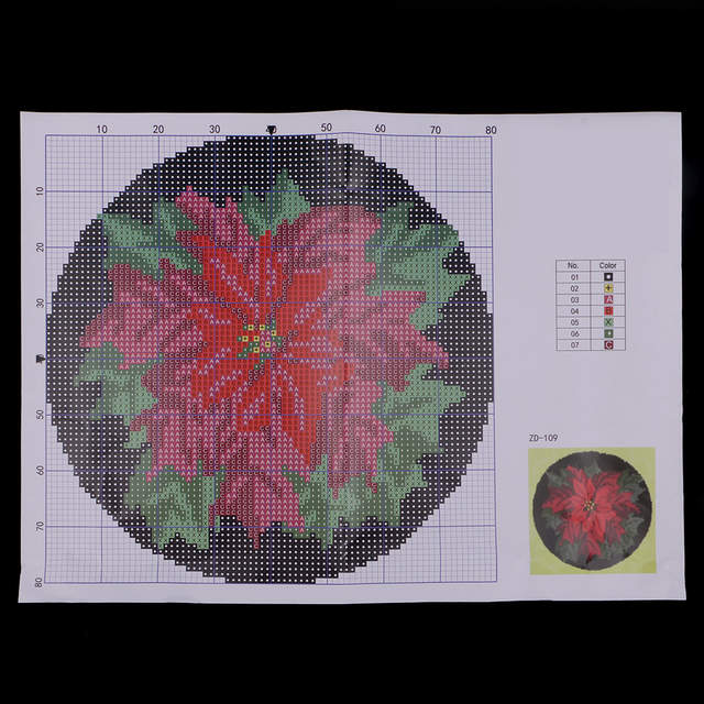 Us 16 92 20 Off Latch Hook Rug Kits For Beginner Red Flower Craft Embroidery Cushion With Wood Crochet And All Tools In From