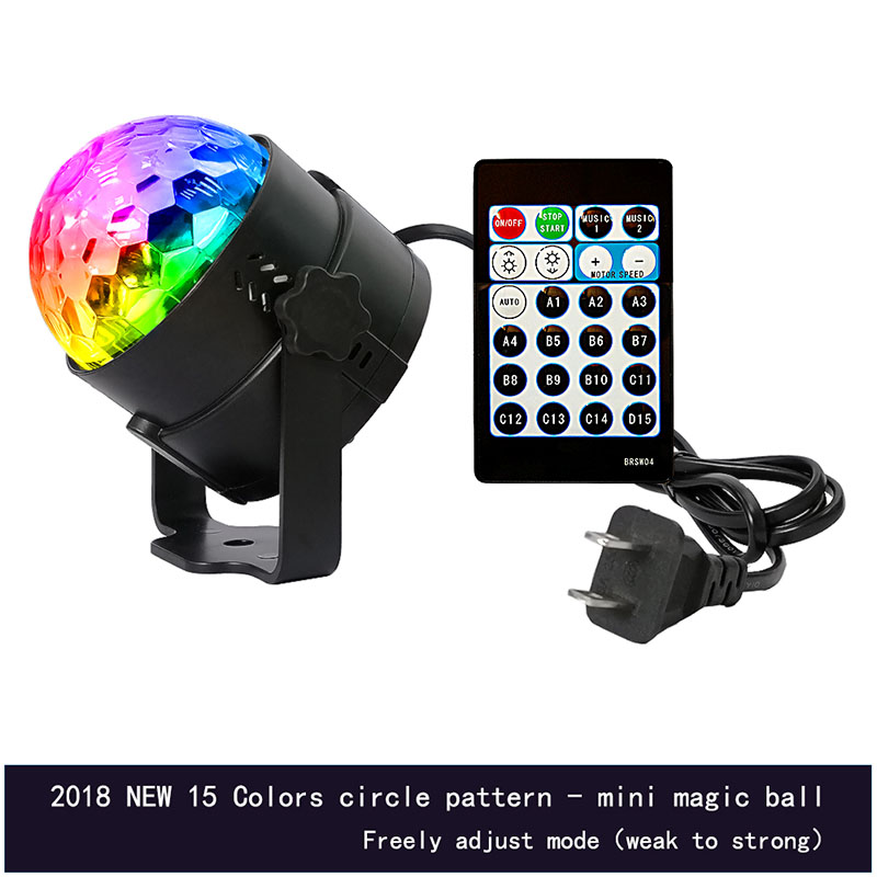 15 Color LED Ball Projector Light Remote Control Stage Lamp For Wedding Birthday Christmas Party Bar SKD88
