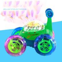 2017 LEVOU Flash de Luz Música Brinquedos de Controle Remoto Do Caminhão Do Carro de Buggy 360 Graus Torção Modelos Modelos de Veículos Carro Dublê RC Brinquedos Para As Crianças