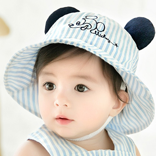 388a1ce93 KACAKID Official Store Unisex Baby Sunhat Lovely Mouse Pattern Boys Girls  Baby Sunhat Cute Ears Infant Children Baby Sunhat 5219-in Hats   Caps from  ...