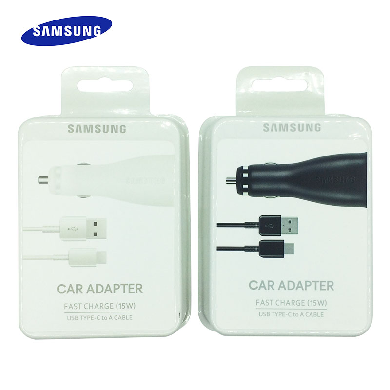 Original Samsung Fast Car Charger Dual USB Port 15W Quick