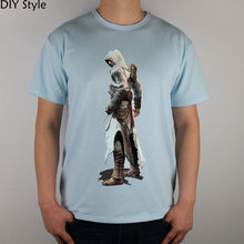 CLASSIC killer GAME ASSASIN CREED T-shirt cotton Lycra top new arrival Fashion Brand t shirt for men