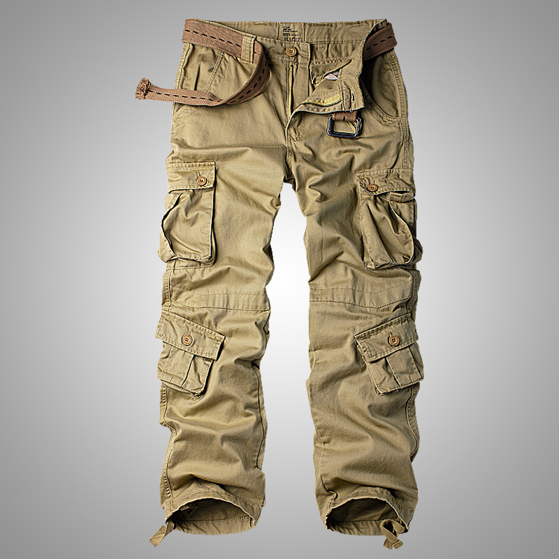 Cargo-Pants Combat-Trousers 8-Pockets Military Army Camo Men's Plus-Size Cotton Work