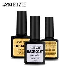 AMEIZII  Top Base Coat UV Nail Polish Gel Transparent Soak Off Long Lasting Primer Nail Art Gel Lacquer Manicure Varnish