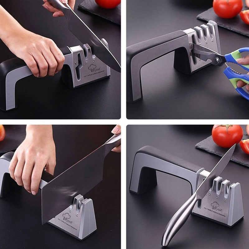 Myvit aiguiseur de couteau 4 en 1 diamant enduit & tige Fine cisailles à couteau et ciseaux système d'affûtage lames en acier inoxydable