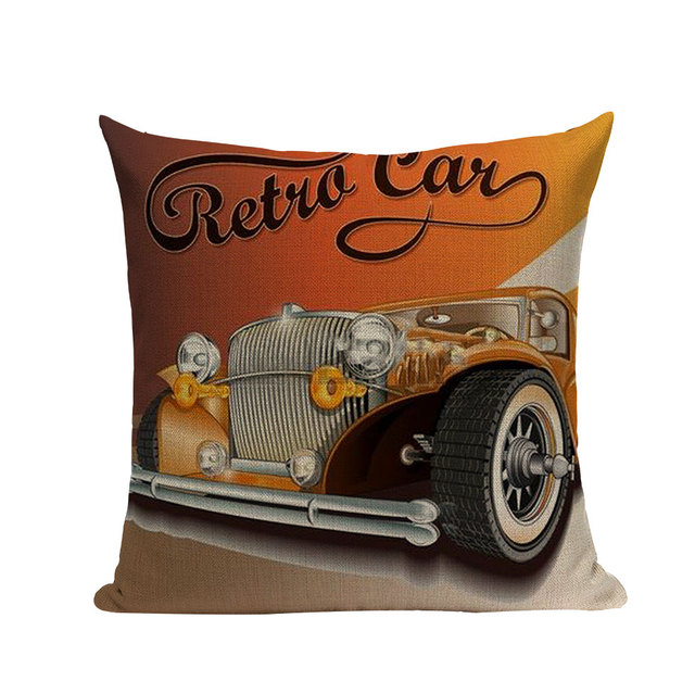 Retro Cars and Travel Cushion Cover