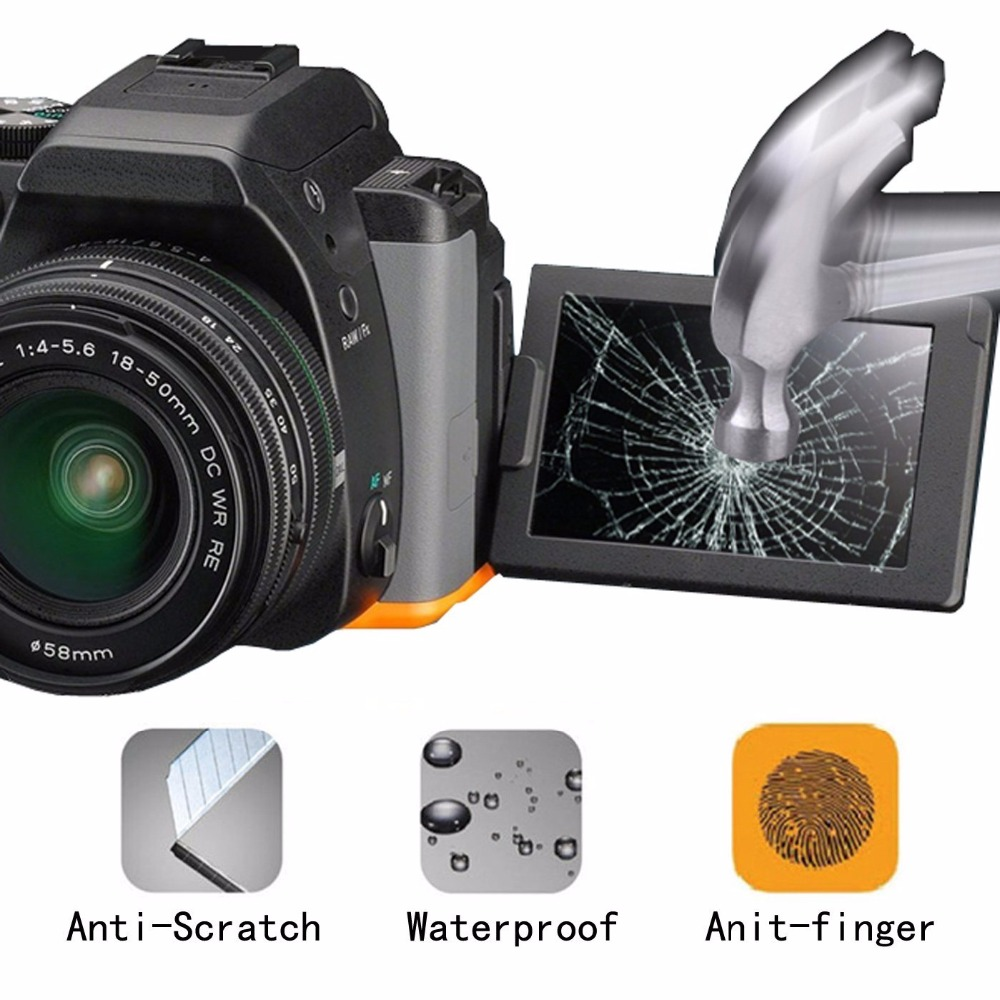 Anti-Glare Premium 9H Tempered Glass LCD Screen Protector Guard for Digital Camera Canon EOS M3 Mirrorless
