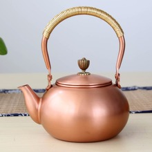 1.2L handmade copper teapot glass samovar ceramic  enameled from clay kettle metal dishes puer green tea gift Japanese