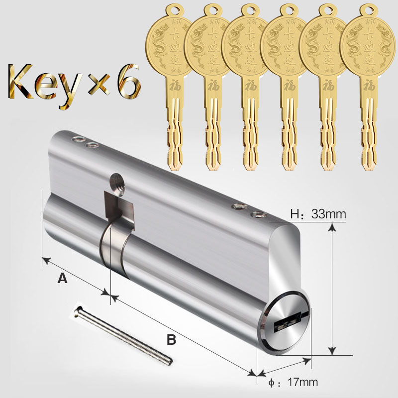 Door cylinder 60 65 70 75 80 85 90mm Security Copper Lock Cylinder Interior Bedroom Living  8 pcs Key LockingDoor cylinder 60 65 70 75 80 85 90mm Security Copper Lock Cylinder Interior Bedroom Living  8 pcs Key Locking