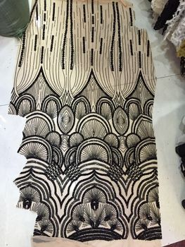Z-han102139-4 Free shipping New arrival fashion design French sequins lace fabric.gorgeous African lace fabric
