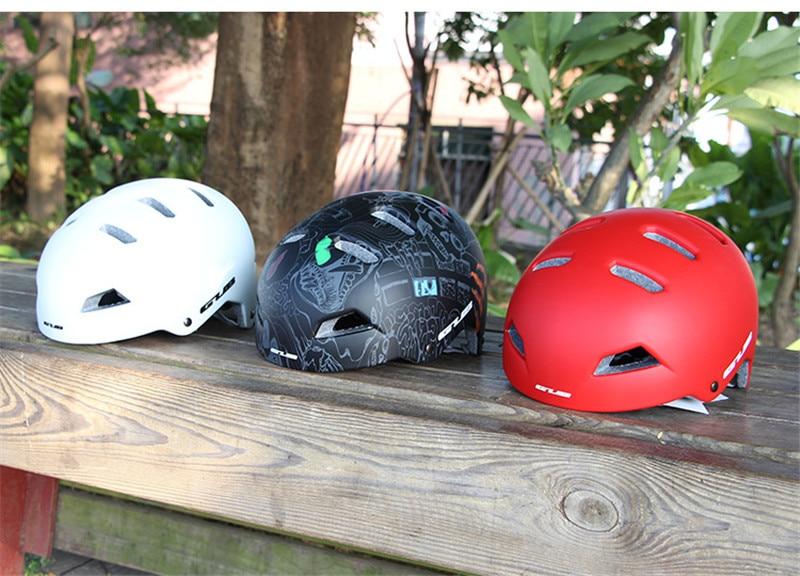 GUB Mountain Bike Riding Helmet Skateboard Climbing Rafting Ultralight Rescue Safe Helmet 56-61cm EPS cap body +PC Shell Helmet