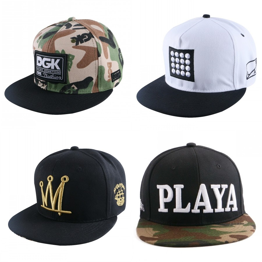 cheap wholesale women men brand baseball cap camouflage colored PLAYA letter starter snapback hat hip hop boy girl sports gorras
