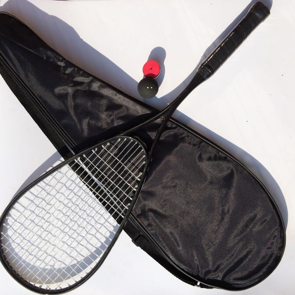 1 keping serat karbon 100% raket Skuasy, Hitam GRAPHITE 500 racquet squash 145g