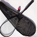 1 unidades 100% de fibra de carbono raqueta de Squash, squash raqueta de GRAFITO Negro 500 145g