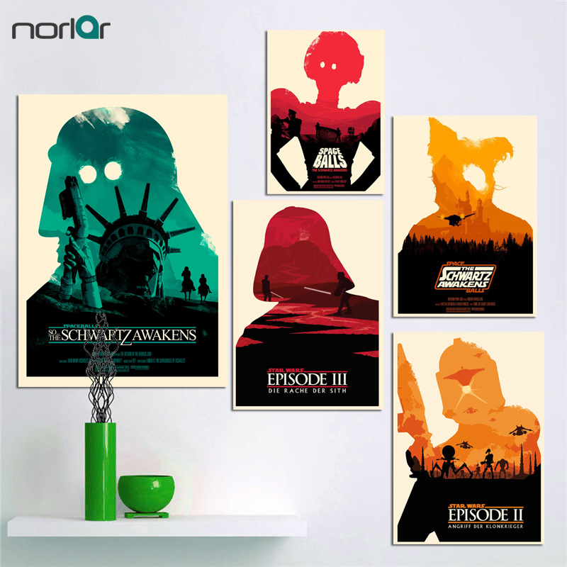 Wall Art Canvas Painting Star Wars Episode Iv Silhouette Movie Poster Art Prints Pictures Wall Decor Home Decor No Frame Painting Star Wars Prints Picturescanvas Painting Aliexpress