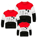 mother daughter matching family hoodies mother son outfits cartoon top jersey 4XL new mommy and me clothes animal free shipping