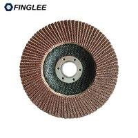 10pcs 80 Grit 125 22mm For Deburring Metalwork Angle Grinder Sanding Flap Wheel Disc 80 For