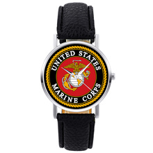 2019 New Fashion United States Marine Corps-USMC Mens Women Quartz Watch Black Leather Marine Sport Wristwatch united states marine corps u s marine corps staff warfighting