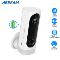 100% Wire Free Battery WiFi Camera Rechargeable Battery Powered 1080P Full HD Indoor Wireless Security IP Cam 130 Wide Angle