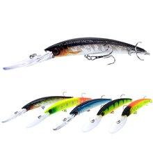 WLDSLURE señuelo de pesca de pececillos, 1 unidad, 150mm/16g, Crankbait, cebo duro Artificial, peche, Lucio, Wobbler, lengua larga