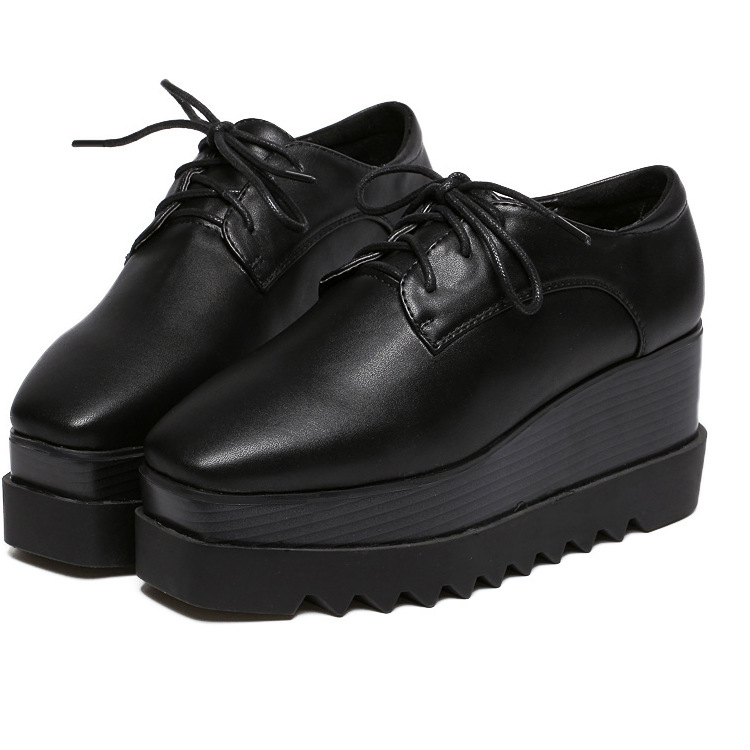 Wholesales Womens Oxfords PU Lace Up Oxfords Shoes for women Casual Comfort Ladies Creeper Flats ShoesWholesales Womens Oxfords PU Lace Up Oxfords Shoes for women Casual Comfort Ladies Creeper Flats Shoes