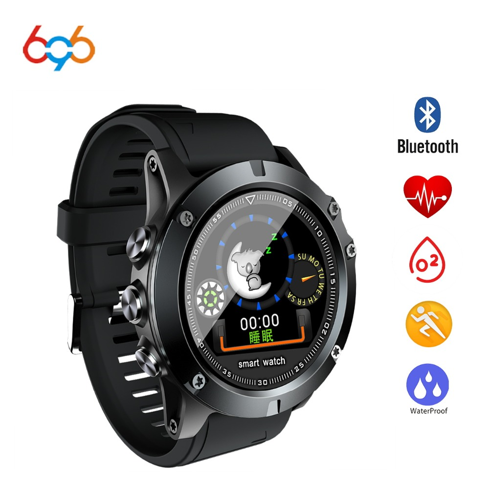 696 L11 Men Smart Bracelet Heart Rate Blood Pressure Fitness Tracker IP68 Waterproof Smart Watch for Android IOS smart phone
