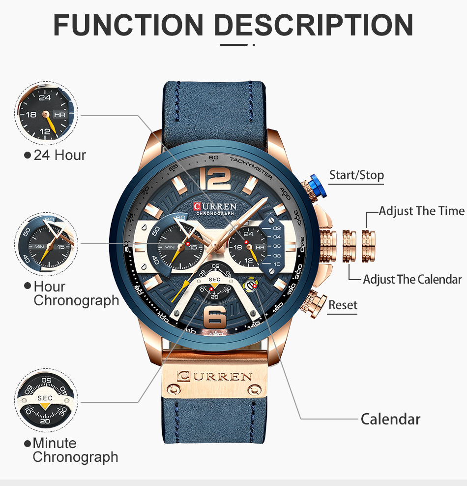 HTB1DVnNVFzqK1RjSZFvq6AB7VXaS CURREN Luxury Brand Men Analog Leather Sports Watches Men's Army Military Watch Male Date Quartz Clock Relogio Masculino 2019