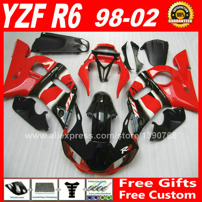 OEM red fairings Fit for YAMAHA R6 YZFR6 1998 1999 2000 2001 2002 bodywork parts yzf