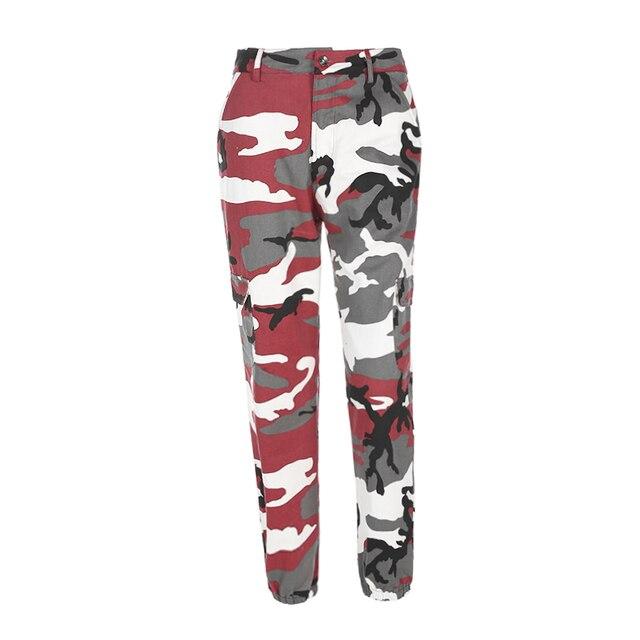 Weekeep Women 2017 High Waist Demin Camouflage Pants Fashion Jean Trousers Pantalon Mujer Pencil Military Camo Pencil Pants 4