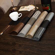 4 unids/set Nueva Exquisito PVC Texlin Manteles Manteles Manteles para Mesa de Vinilo resistente al Calor Cocina Casera bebida coaste