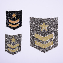 letter Patch Iron On Badges Embroidered Applique Military rank Hotfix Badge Clothes Garment Apparel Accessories