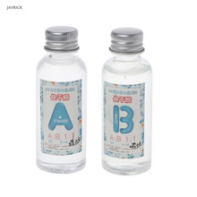 3 Ounce Quick Curing AB Resin 1:1 Kit Clear Hard Epoxy Resin For Jewelry Making resin epoxy high adhesive 3 1 ab glue white for diy jewelry making