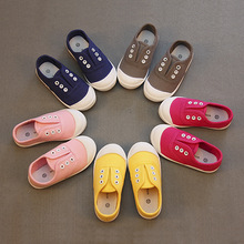 Kids Child Candy Solid Colors Children Shoes for Baby Boys Sneakers Girls Canvas Shoes