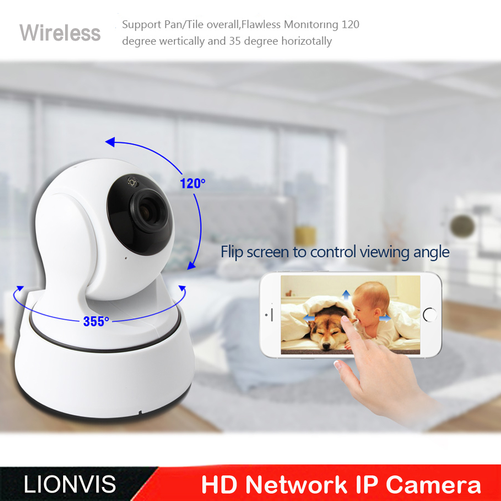 720P HD Wireless IP Camera 1.0 Megapixel P2P Plug Play  Pan/Tilt Two Way Audio TF Card Record Night Vision Wifi Home Camera owlcat 720p security wireless network cctv wifi ip camera megapixel hd tf card slot two way audio pan tilt ir cut night vision