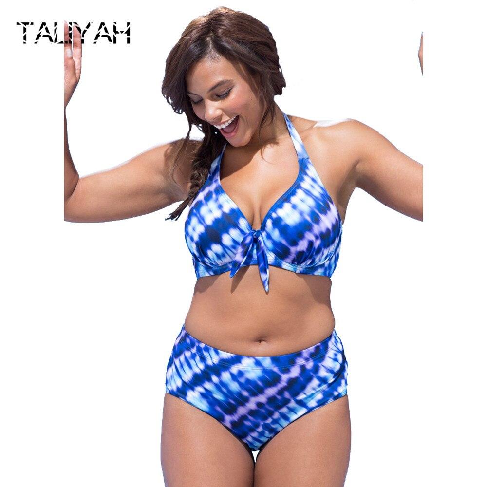 d2f6c1fadfc87 Neue hängen neck bandage bikini set 2019 plus größe bikini große tasse  badeanzüge push up bademode