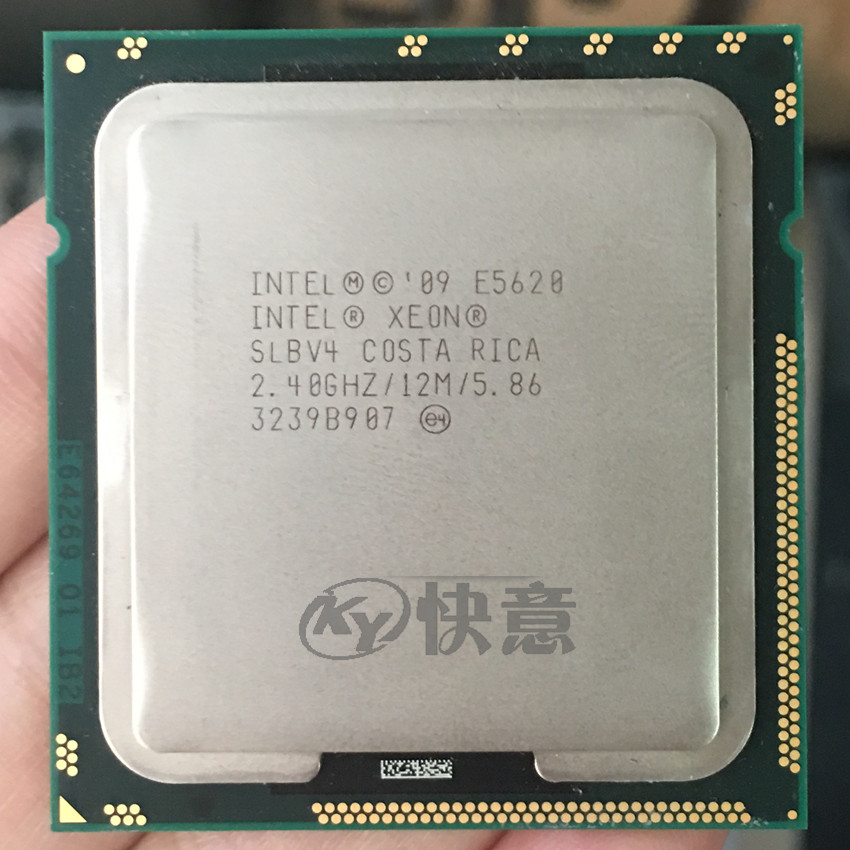Intel Xeon E5620 CPU 2.4GHz 12MB Cache 5.86GT//s LGA1366 Quad Core Proc SLBV4