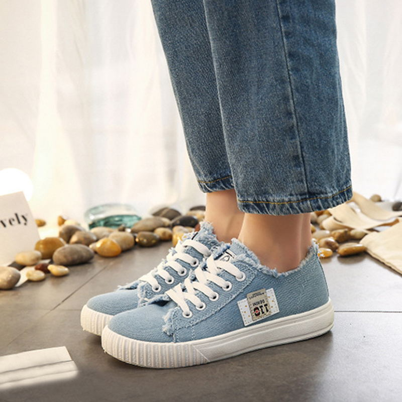 2018 Women Sneakers Fashion Lace Up Flats Summer Women Canvas Shoes Comfort Solid Casual Breathable Ladies Flats Footwear DBT988 women s shoes 2017 summer new fashion footwear women s air network flat shoes breathable comfortable casual shoes jdt103