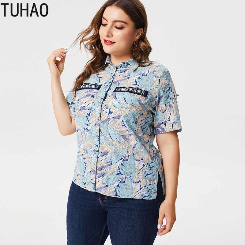 TUHAO ヨーロッパとアメリカコード婦人服 2019 夏新プリント半袖シャツ Amazon エクスプレス ZPZ