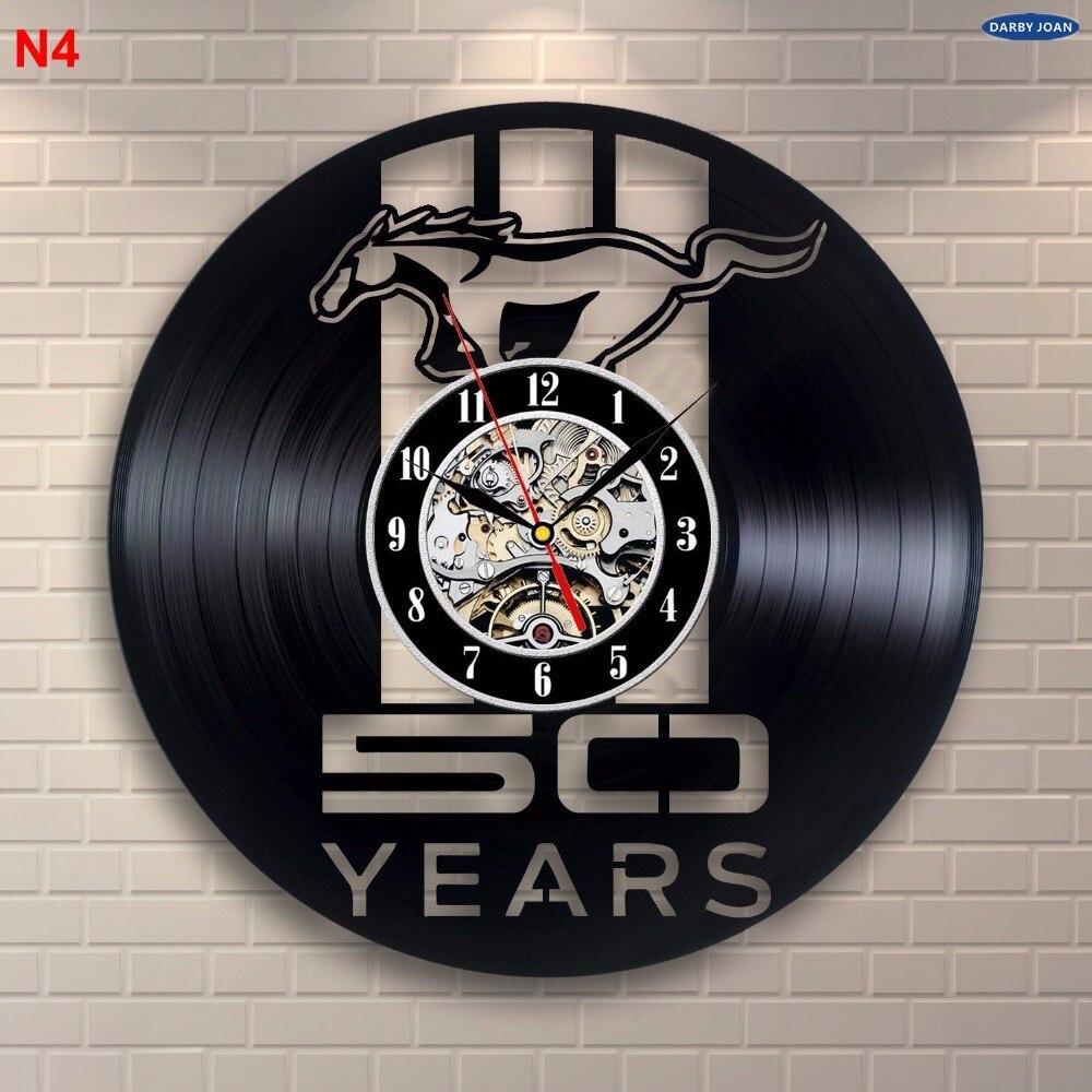 Ford Mustang Handmade Vinyl Record Wall Clock Fun Gift Vintage