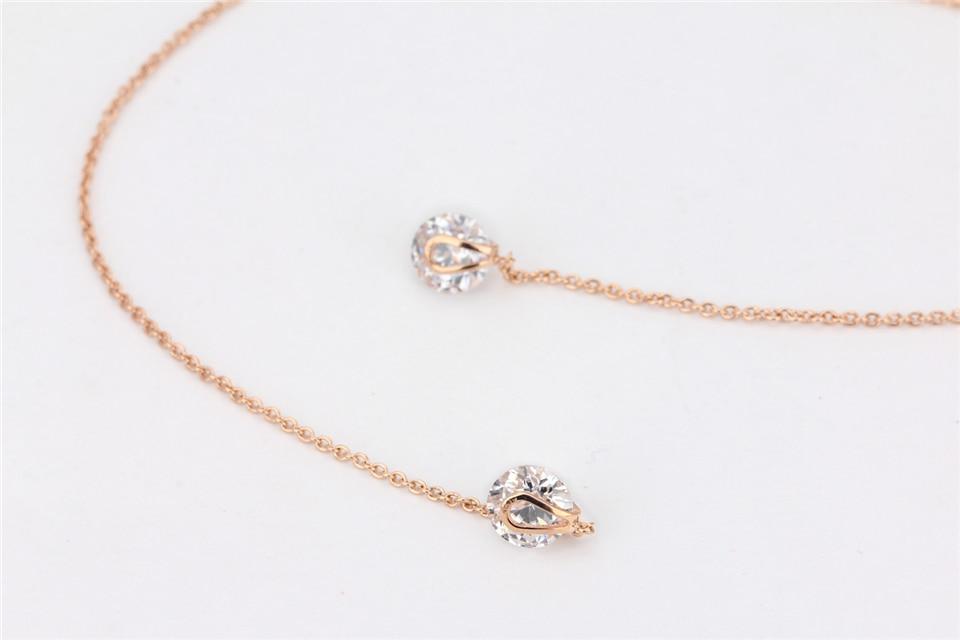 d PISSENLIT Silver Long Drop Earrings Round Gold Silver Earrings Women Jewelry New Fashion Grace Woman Korean Jewelry Girls Gifts