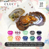 CLUCI 10pcs Twins Akoya Pearl Oysters Individual Packaged 6 7mm Round Akoya Pearl Saltwater Oysters with Twins Pearls WP265SB