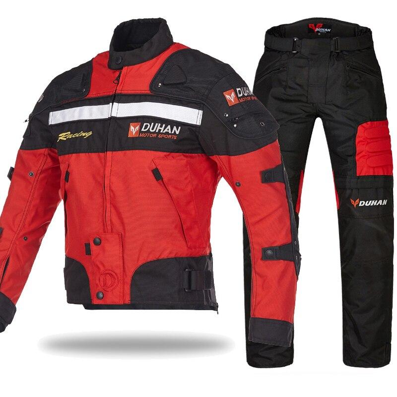 DUHAN Moto vestes imperméables 4 saisons Hommes de vêtements veste Équipement de protection Drop shipping protection doublure vestes