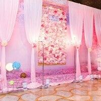 20 шт./лот Высокое качество 40x60 см Шелковая Роза искусственная цветы стены Романтический для украшения дома свадебные фоновые декорации