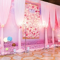 20pcs/lot high quality 40x60cm silk rose artificial flowers wall romantic for home decoration wedding background decoration