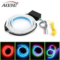 AOZBZ Universal 47 RGB 72 LED Strips Rear Trunk Tail Lights Flowing Turning Signals Braking Dynamic