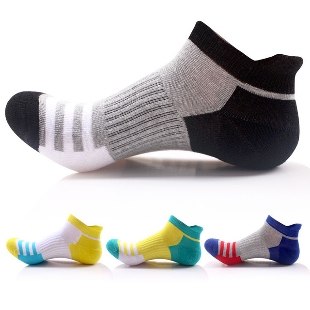 e5f7eb351e74 New Spring Autumn Half Terry Sport Socks Men Women Outdoor Running Hiking  Socks Breathable Cotton Striped Sport Sock 5pairs lot