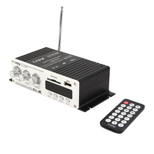 Mini 12 V Del Coche MP3 Hi-Fi Audio Estéreo Amplificador Home Auto Moto Altavoz de graves Boostrer Player con USB Para El Puerto de DVD FM MMC