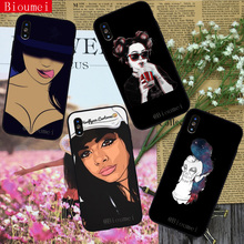 Beautiful Afro girl like phone case for iphone 7 XR case Soft TPU Cover Coque for iphone XS XS Max 8 5 5S 6 6S Plus X 49 цена 2017